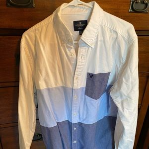 American Eagle striped button up shirt